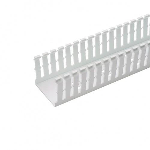 """PANDUIT Conducto de Cableado Panduct™, Ranuras Estrechas, Tipo F , de 4""""x4""""X6"""" , PVC, Blanco - F4X4WH6"""