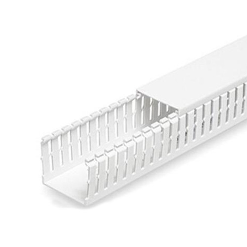 "PANDUIT Conducto ranurado estrecho, PVC, 1.5 ""X 4"" X 6 ' - F1.5X4WH6"