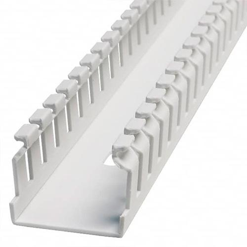 "PANDUIT Panduct™ Conducto de cableado en ranuras estrechas tipo F, 1 de ancho x 1 de alto, de 6"" de largo, PVC, Blanco - F1X1WH6"