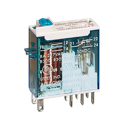 ROCKWELL AUTOMATION 700HK, 120VAC, SLIM, RELAY, DPDT, 8 A, - 700HK32A1