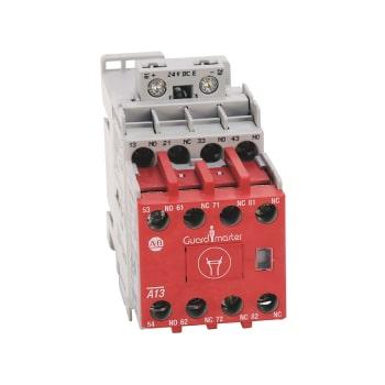 ROCKWELL AUTOMATION 700SC, Relevador de Control de Seguridad, 4NA/4NC, Bobina de Control Electrónica 24 Vdc - 700SCF440EJC