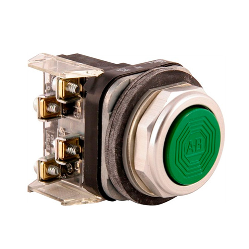 ROCKWELL AUTOMATION 800T, PB, 30mm,  MOMENTARY PUSH BUTTON, VERDE, 1 N.O.  - 800TA1D1