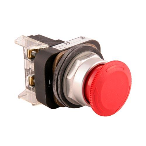 ROCKWELL AUTOMATION 800T, 30mm, Push-Pull/TWIST , TIPO HONGO (40mm), ROJO, 1N.C.L.B. - 800TFXT6D4