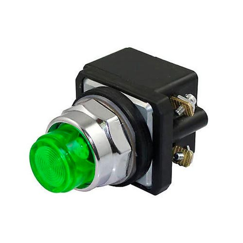 ROCKWELL AUTOMATION 800T, 30mm, LAMPARA PILOTO, VERDE, 12 30V AC/DC - 800TQH2G