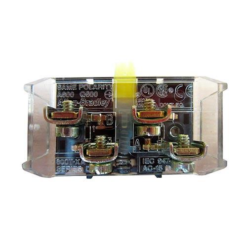 ROCKWELL AUTOMATION 800T, 30mm, Contact Block, 1 NO 1NC  - 800TXA