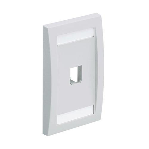 PANDUIT Placa de Pared Vertical Ejecutiva, Salida Para 1 Puerto Mini-Com, Con Espacios Para Etiquetas, Color Blanco Mate - CFPE1IWY