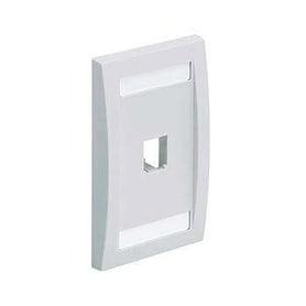 PANDUIT Mini-Com® Placa Frontal Vertical, Una Salida - CFPE2WHY