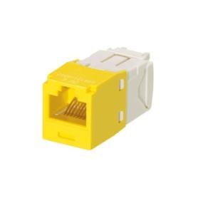 PANDUIT Módulo Mini-Com, Categoría 6, UTP, 8 posiciones, 8 cables, cableado universal, amarillo, estilo TG - CJ688TGYL