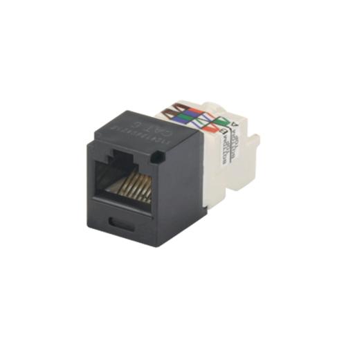 PANDUIT Módulo Mini-Com, Categoría 6, UTP, 8 posiciones, 8 cables, cableado universal, negro, estilo TP - CJ688TPBL