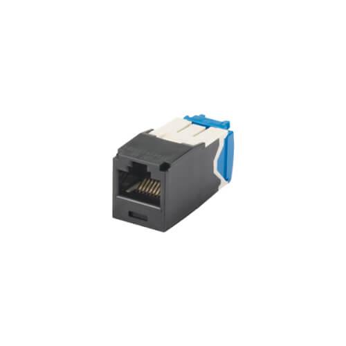 PANDUIT Conector Mini-Com™  RJ45, Categoría 6A, UTP, negro. - CJ6X88TGBL