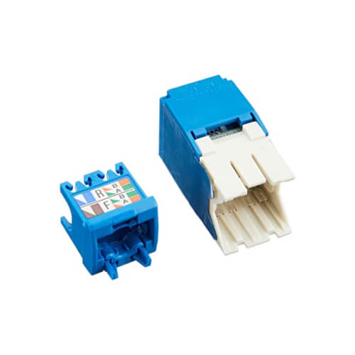 PANDUIT Conector Mini-Com™  RJ45, Categoría 6A, UTP, azul. - CJ6X88TGBU