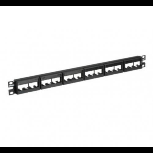 PANDUIT Panel de parcheo plano de 24 puertos en 6 modulos plásticos CFFPL4. Incluye etiquetas. 1 UR. - CPPL24WBLY