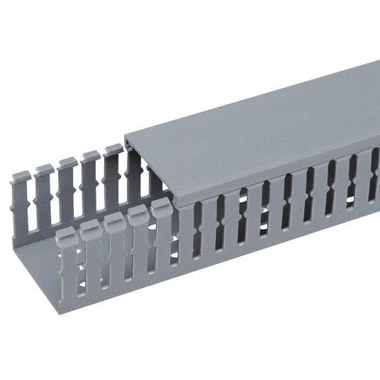 PANDUIT Ducto para cables de ranura delgada Tipo F, con tapa tipo C - FC3X3LG2
