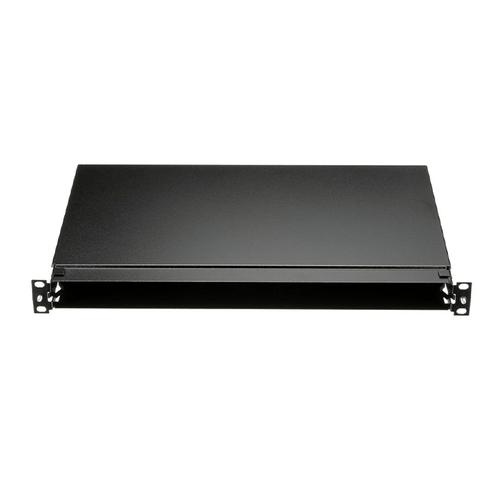 """PANDUIT Charola de Fibra para  montaje en panel  de parcheo adaptador de fibra CFAPPBL1, puede albergar hasta cuatro casetes QuickNet™, paneles adaptadores FAP Y FMP, 1.75""""H x 17.16""""W x 11.16""""D (44.4mm x 433.3mm x 283.5mm), color negro, 1 unidad  de rack. Requiere panel  de parcheo modular  de 24 puertos y Módulos adaptadores Mini-Com™. - FMT1"""