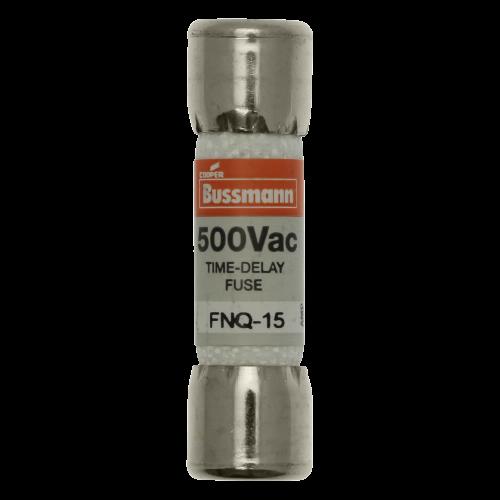 BUSSMANN Fusibles FNQ de acción retardada, 15A, 500V, Miniatura - FNQ-15