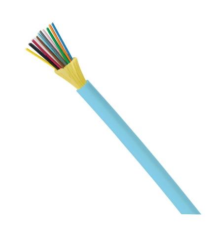 PANDUIT Cable de distribución para interiores de fibra OM3 12 de 50um, conductor vertical (OFNR), fibras reforzadas de 900um - FODRX12Y
