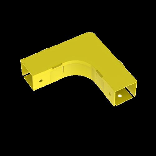 PANDUIT Canaleta de conducto para fibra de 2 x 2, curvatura horizontal de 90°, Amarillo - FRA2X2YL