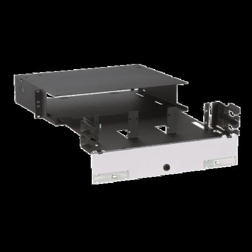 PANDUIT Caja de montaje en rack de fibra, Control integral del radio de curvatura, Acero, Negro - FRME2U