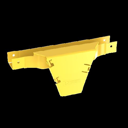 PANDUIT Montaje en T vertical, con puerta con bisagras, ABS, Amarillo - FVTHD2X2YL