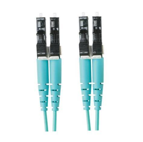 PANDUIT Cable de conexión de fibra dúplex OM3, 3M, Aqua - FX2ERLNLNSNM003