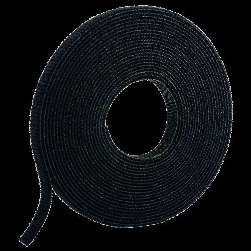 PANDUIT Rollo de Cinta de Contacto, Velcro, 4.5m de Largo 19.1 mm de Ancho, Negro - HLS15R0