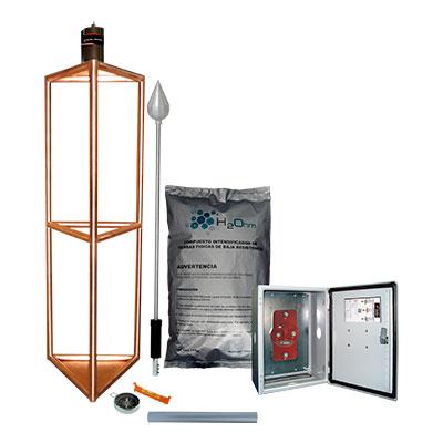 Kit Pararrayos Total Ground, Para alta Incidencia, Aluminio - KDA05