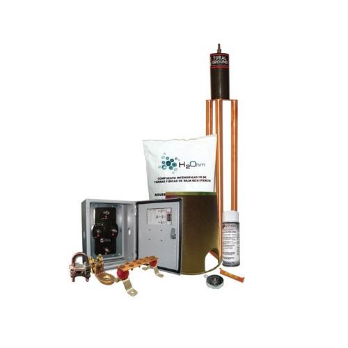 TOTAL GROUND Kit de Puesta a tierra, 45 A, Con Electrodo, Filtro, Acoplador y Compuesto H2Ohm - TG45K