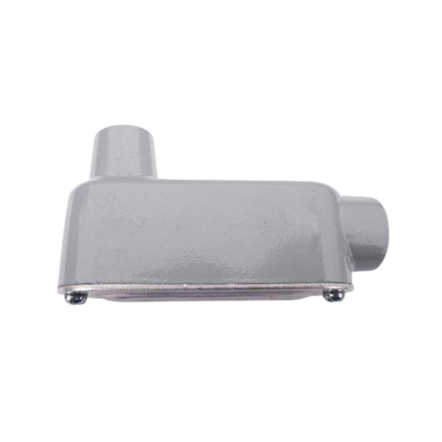 CROUSE HINDS Condulet tipo LB, Serie 3, 19 mm, Gris - LB-23
