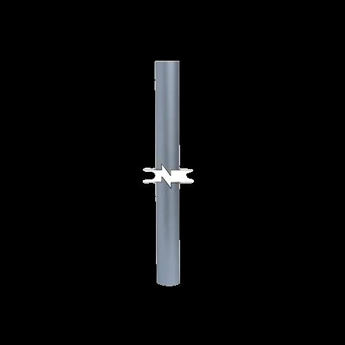 BELDEN Mástil para elevar la punta pararrayos, 3 MTS, Aluminio - MTG03