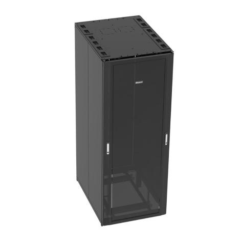 PANDUIT Bastidor del gabinete de tipo N, Con panel superior, Negro - N8512B