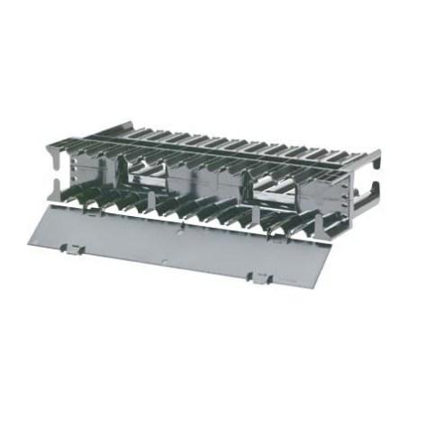 PANDUIT Administrador horizontal para cable al frente y atrás, 2 UR, ABS, Negro - NCMH2