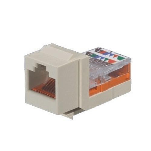 NETKEY Módulo de conector de bastidor conductor Cat 5e, blanco hueso - NK5E88MIWY
