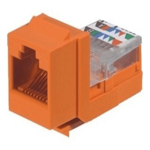 NETKEY Módulo de conector de bastidor conductor Cat 5e, naranja - NK5E88MORY