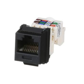 NETKEY Módulo de conector, Cat 6 UTP, estilo TP, negro - NK6TMBL