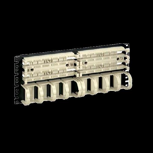 PANDUIT Panel de montaje en rack, Categoría 5e - P110B100R4WJY