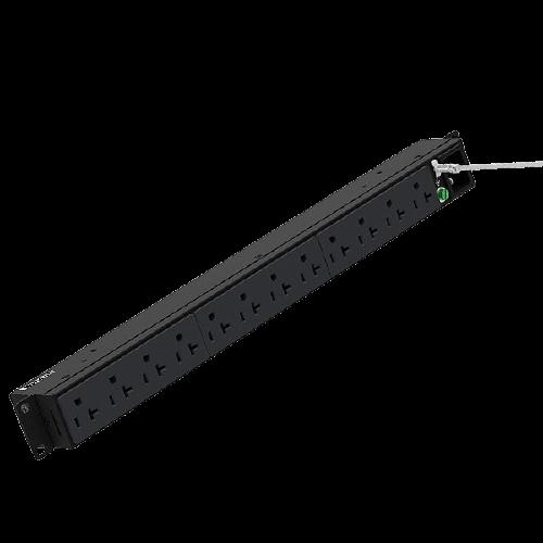 PANDUIT PDU Básica, 12 Contactos NEMA 5-20R, Instalación Horizontal, Negro - P12B01M