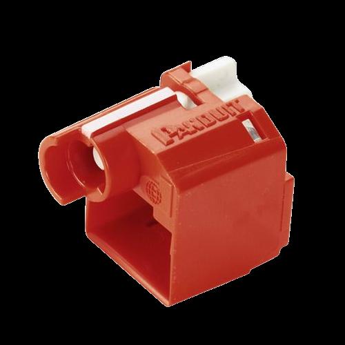 PANDUIT Dispositivo de bloqueo de enchufe RJ45, Rojo, 10 PZ - PSLDCPL