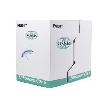 PANDUIT Bobina de Cable UTP, TX6000, Categoría 6 Mejorado, 23 AWG, 4 pares, 305M, Gris - PUC6004IGFE