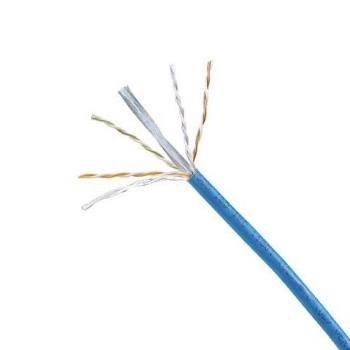 PANDUIT X6000™ Cable de cobre de 4 pares, UTP, de categoría 6 Mejorada, 23 AWG, UTP, azul - PUR6004BU-FE