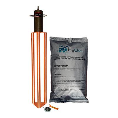 TOTAL GROUND Kit De Tierra Física, Electrodo Con Acoplamiento En Bobina Y Saco De H2ohm - TG45AB