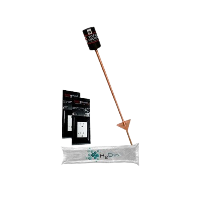 BELDEN Kit de tierra VARIGROUND, Electrodo con acoplamiento en bobina y saco de H2OHM - VARIGROUND