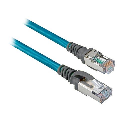 ROCKWELL AUTOMATION 1585J, Cable de Conexión Red Ethernet, Cat 5e, Conectores Macho RJ45, 4 conductores, 2 mts. Long. - 1585JM4TBJM2