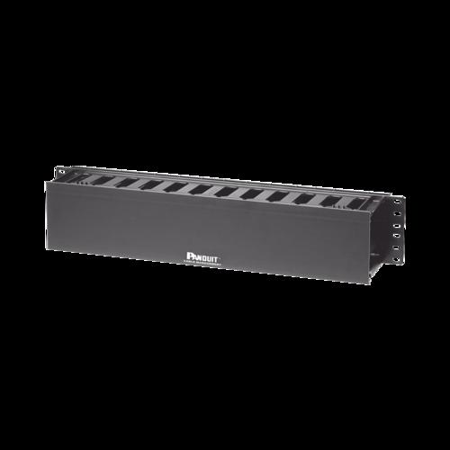 PANDUIT Organizador de cables horizontal, Una cara, ABS, Negro - WMPF1E