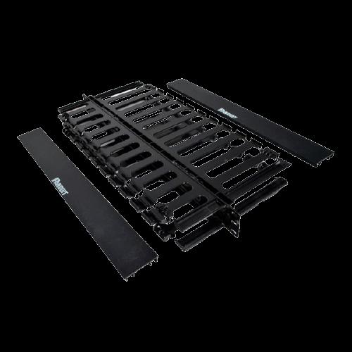 PANDUIT Organizador de cables horizontal, Doble cara, 1 UR, ABS, Negro - WMPSE