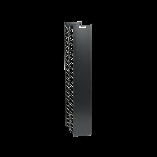 PANDUIT Organizador de cables vertical, Doble cara, 22 UR, ABS, Negro - WMPV22E