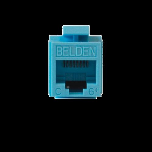 BELDEN Modulo Jack RJ45 tipo keyconnect con terminación MediaFlex categoría 6 22 a 26 AWG de impacto azul  -  AX101326