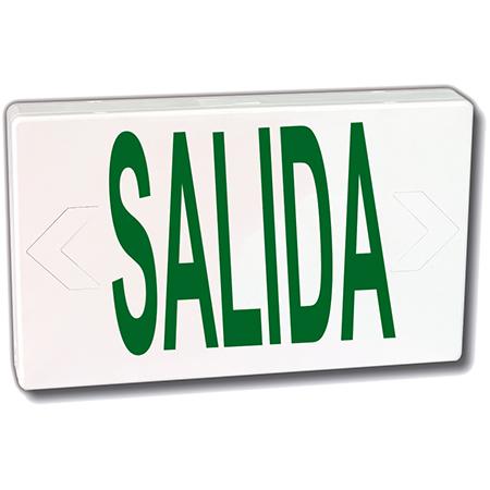 "BEGHELLI, Letrero de Señalización ""SALIDA"", Verde, LED, 120/277V, 60Hz - VA4GSAS"