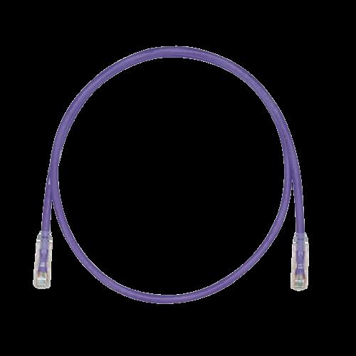 PANDUIT Cable de conexión UTP, Categoría 6, Enchufes modulares TX6 PLUS, Violeta - UTPSP5VL