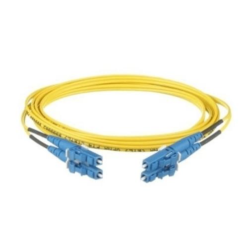 PANDUIT Cable de conexión de 2 fibras OS2, LC dúplex a LC dúplex, clasificación vertical (OFNR), cable con cubierta de 16 mm, estándar IL de 18 metros - F92ERLNLNSNM018