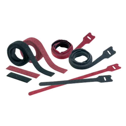 PANDUIT Sujetacables de gancho y bucle, tira de plénum, Estandar, Negro - HLSP3SX0